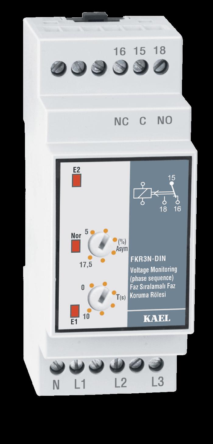 FKR3N-DIN / Faz Sıralamalı Faz Koruma Rölesi